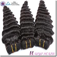 La vague malaisienne a aligné la qualité profonde des cheveux humains 8A 9A 10A vague profonde