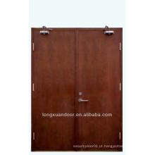 Porta de fogo fechada, porta de madeira