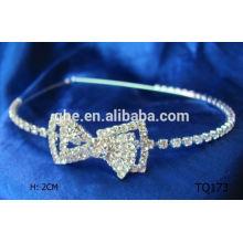 Nueva corona principal de las tiaras del rhinestone de la venta al por mayor de la manera