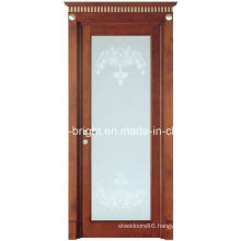 China Made Latest Stain Glass Wood Door with Frames