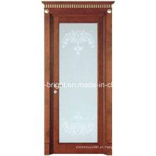 China fez mais recente mancha de madeira porta de vidro com quadros