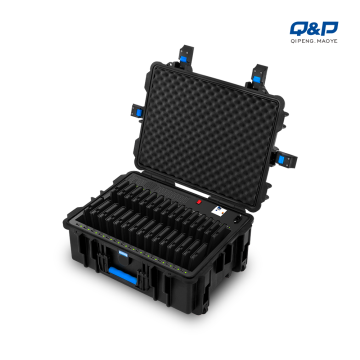 Wieless charging trolley case for tablets