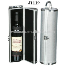 high quality aluminum wine case for single bottle factory