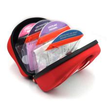 Caja dura al por mayor de los primeros auxilios con el bolsillo del PVC
