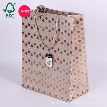 Gewohnheit druckte populäre Carry-Einkaufshandpapier-Geschenktüte China-Fabrik