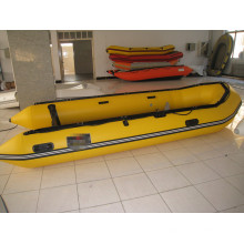 5m Yellow Aluminum Floor Inflatable Boat Working Boat for Rescue