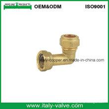 6 años de garantía de calidad de latón compresión codo igual / codo de latón (AV7011)