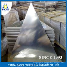 Plaque signalétique en aluminium triangulaire