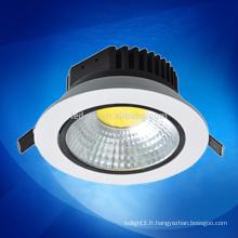 Nouveau produit led lumière 10W / 15W / dimmable cob led downlight 3 années de garantie
