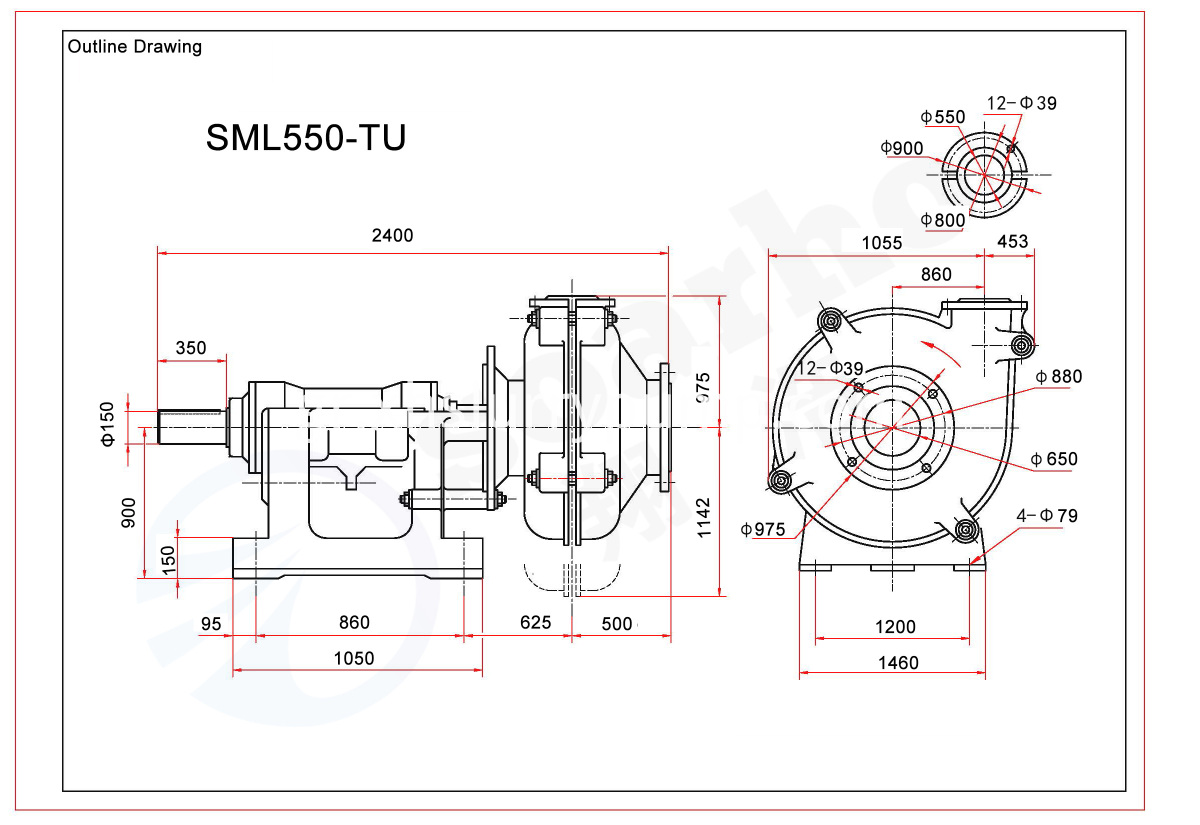 SML550-TU outline drawing