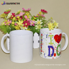 Manufactory low price Sublimation white mug