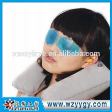 Custom flocked inflatable travel pillow