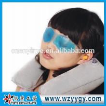 Travesseiro de viagem inflável flocado personalizado