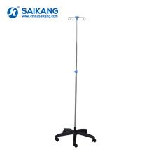 SKH041 (1) aço inoxidável cinco pés IVPole