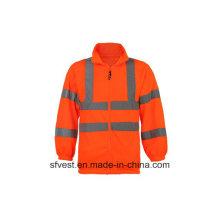 Herren Langarm Sicherheit Reflektierende Swearshirt mit 100% Polyester Fleece