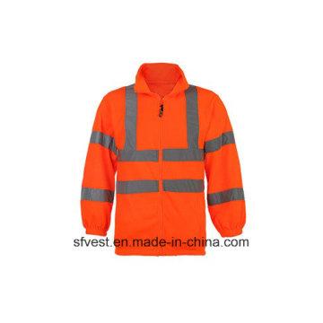 Men's Long Sleeve Safety Swarup Reflectivo com 100% poliéster Fleece