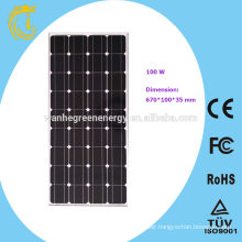 100W Solar Panel for 60w solar street light