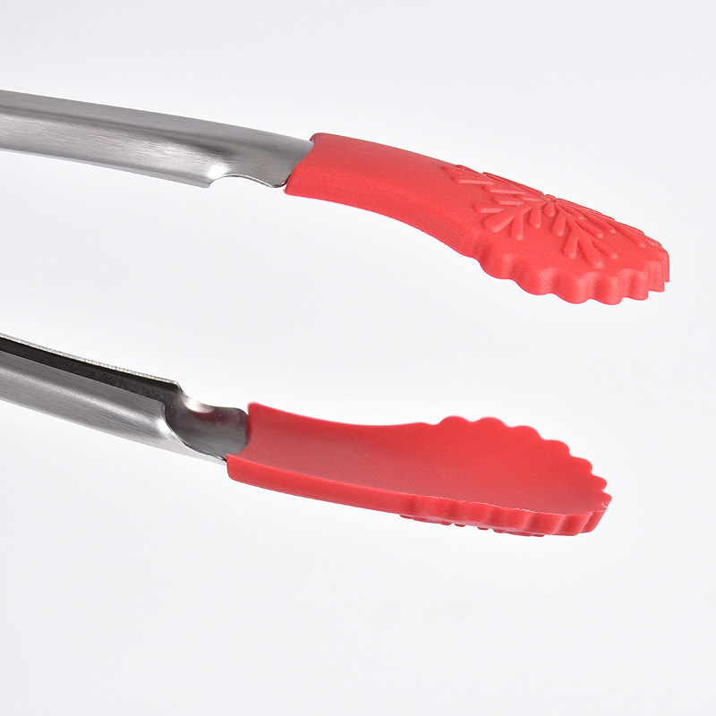 Christmas silicone food tongs