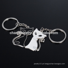 Gato preto e branco chaveiro presentes de casamento preto e branco gato casal YSK008
