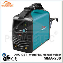 Machine à souder DC Inverter Powertec MMA-200 Arc IGBT (MMA-200B)