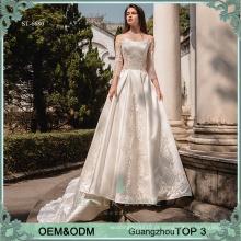 Vestido de noiva de manga longa vestido de noiva vestido de noiva de casamento vestido de casamento muçulmano das Filipinas