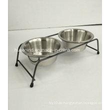 Iron Art Pet Doppel Fütterung Schüssel