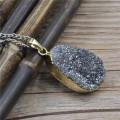 Ручной работы природного камня Кулон, оптовая подвески Агат друзового Друза