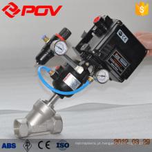 Válvula pneumática de ângulo angular Válvula pneumática de atuação rápida