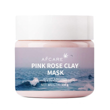 Deep Hydrating Pink Rose Extract Face Mask Whitening Lightening Pink Clay Mask Private Label