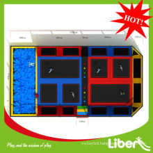 Top quality Made in China 14X8x4.5m Size adult indoor trampoline for sale