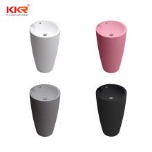 kingkonree kkr colorful sanitary ware round shape artificial stone resin toilet free standing bathroom sinks