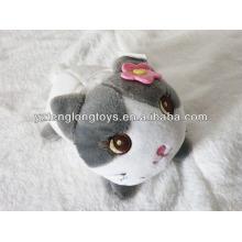 New design lovely cute soft cat shaped plush mobile phone holder
