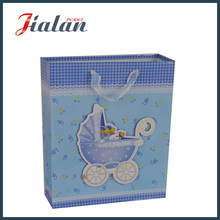 Customize Ribbon Rope and 3D Baby Carriage Gift Paper Bag