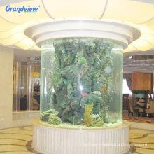 Professional Aquarium Cylinder Fish Tank Thick Acrylic Sheet Manufacturer