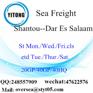 Shantou Port Sea Freight Shipping to Dar Es Salaam