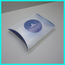 New style good quality hot stamping clear transparent pp frosted plastic necktie pillow packaging boxes