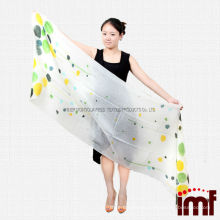 Top Grade 100% Cashmere Lightweight Colorful Polka Dots Wrap Pashminas for Girl