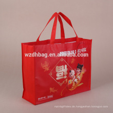 Fördernde nicht gesponnene Geschenktaschen mit den vollen Farbdrucken und -größe besonders angefertigt