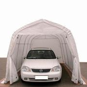 2.7 x 5.1 x 2.3m Canopy Tent, Suitable for Motorcycle and Car Shelter, Waterproof PVC and PE Cover