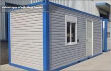 Carport Garage Prefab 20ft Container House , Prefab steel f