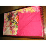 High Quality Colorful Rose Style Long Silk Pashmina Scarf