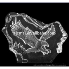 Crystal Eagle Figurines Glass Iceberg para decoraciones del hogar