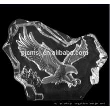 Iceberg de vidro das estatuetas de cristal da águia para as decorações home