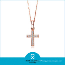 Gold Plated Cross Pendant Necklace (SH-N0173)