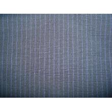 Tissu à rayures teintées en fil de laine