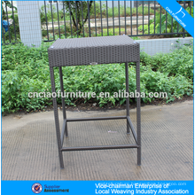 Garden wicker bar furniture fishbone weaving high bar table for sale