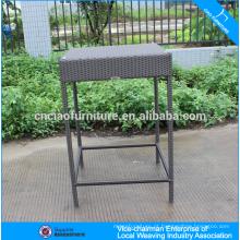 Jardim de vime bar móveis espinha de peixe tecelagem alta bar mesa para venda