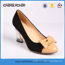 Sapatos genuínos de senhoras do partido de fornecimento de ar de couro de crocodilo