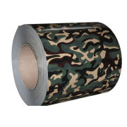 Camouflage Pre-painted Galvanized Steel Coils / Printed Ppgl Coils For Photographic Equipment