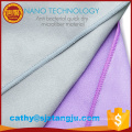 China supplier microfiber travel/sports/camp/towel with zipper pocket ,carry bag microfiber suede towel